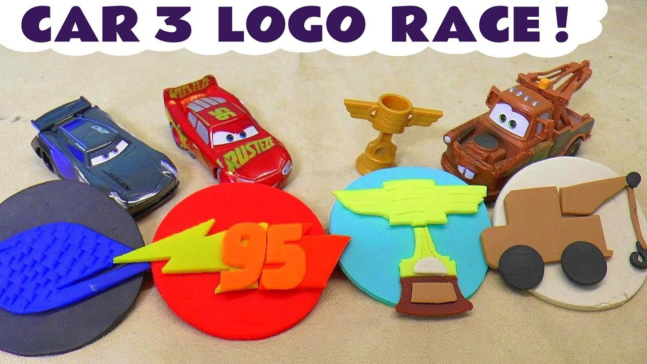 Disney Cars Toys Lightning Mcqueen Cars 3 Play Doh Logo Race With