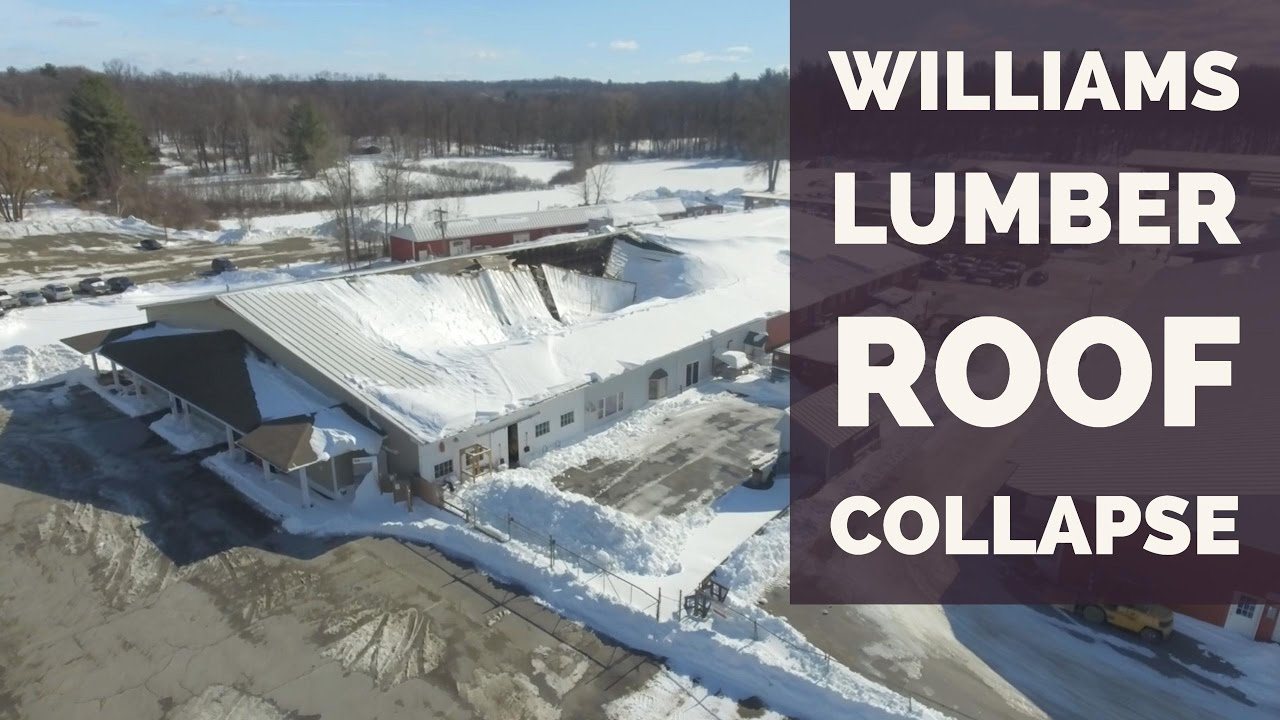 Rhinebeck Williams Lumber Roof Collapse Aerial Footage