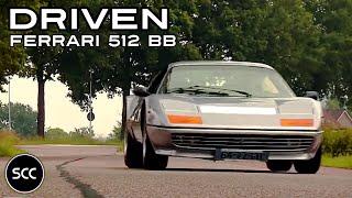 Ferrari 512 BB 1977 - Test Drive in top gear - Flat 12 Engine Sound | SCC TV