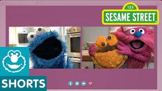 @Sesame Street: Cornmeal Pancakes | Cookie Monster Snack Chat with Carla Hall