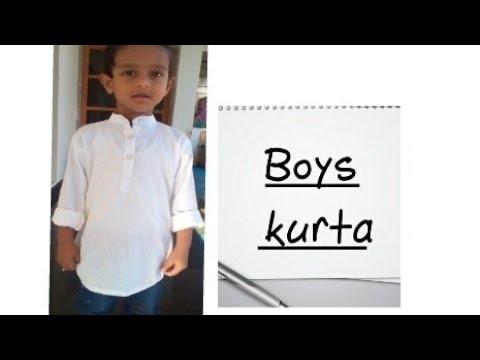 Boys Simple Kurta Pattern Cutting