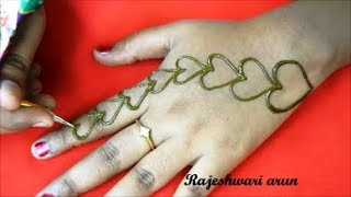 Valentine's Day Special Heart Mehndi Art For Hands * Latest Simple Mehndi * New Henna 2018 thumbnail