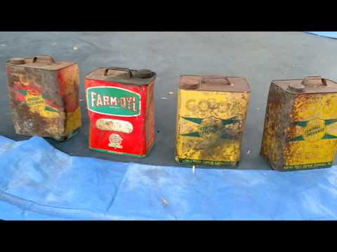 Junk Finds -Collection of Recently Found Oil Cans-