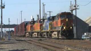 Burlington Northern Santa Fe Freight Train - Stockton, California, USA