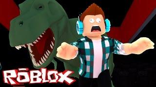ROBLOX-a DINOSAUR ATE ME!! (Escape from Roblox Cinema)
