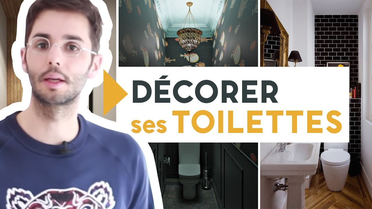 comment decorer ses toilettes youtube. Black Bedroom Furniture Sets. Home Design Ideas