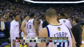 LeBron James' game-winning fadeaway 3 vs Golden State [12 Feb 2014]