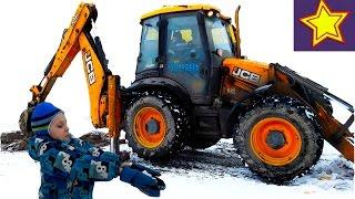 Про тракторы. Желтый трактор экскаватор поедатель земли Kids video about tractor(Привет, ребята! В этой серии Игорюша изучает работу большого желтого трактора с ковшом и сам принимает учас..., 2017-01-21T05:00:01.000Z)