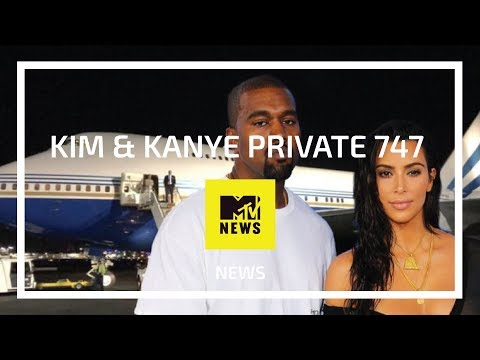 MTV News - 'No Big Deal' Kim Kardashian & Kanye West Private Boeing 747 designed by Edése Doret