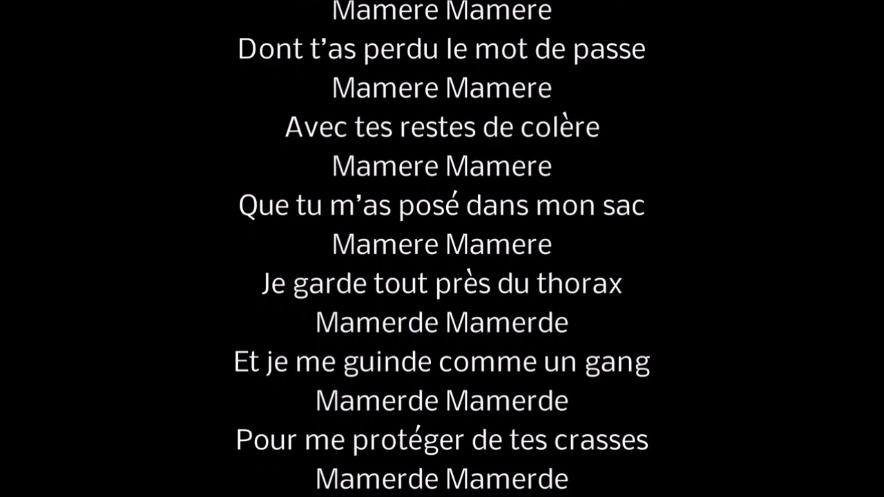 Eddy De Pretto Mamère Lyrics