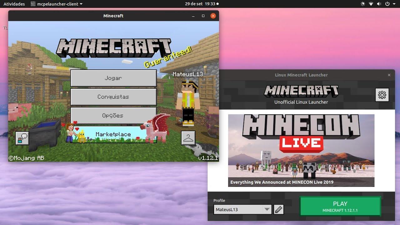 Como instalar o Minecraft Bedrock Edition (MCPE) no ubuntu! - YouTube