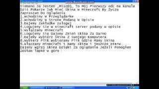 Jak Mieć Skina W Minecraft By Zyczu  [Pl]