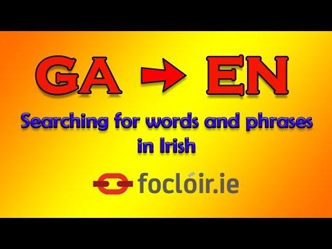 New English-Irish Dictionary from Foras na Gaeilge