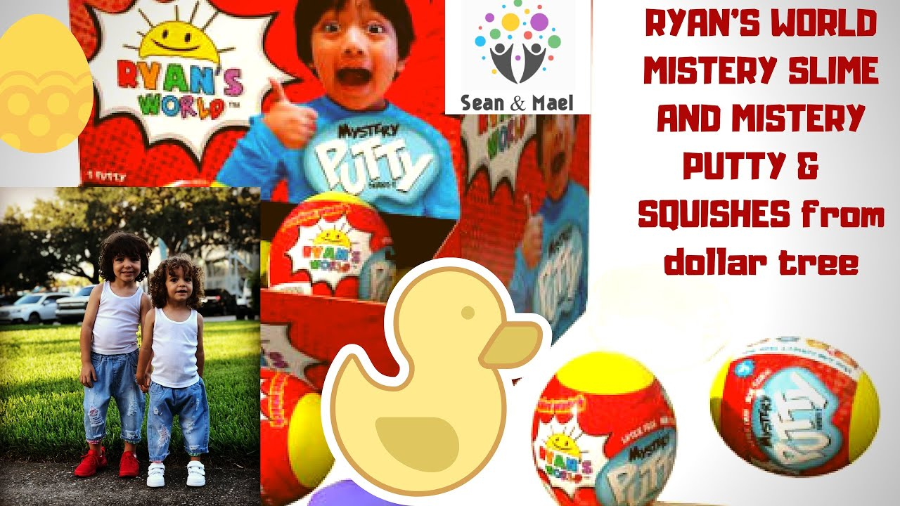 #RYANSWORLD mystery slime & putty / #SQUISHIES from Dollar tree