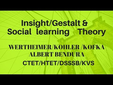 gestalt insight theory