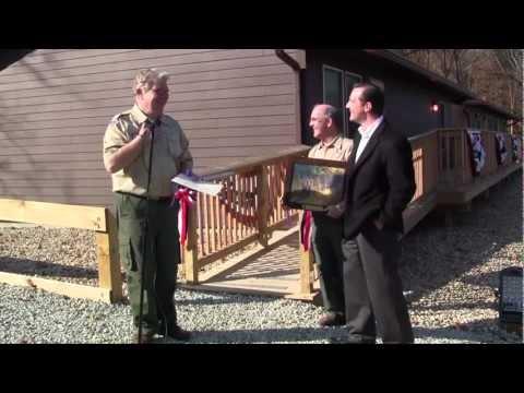 Camp Belzer Robert C. & Lavern R. Hunt staff cabins dedication