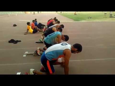 100m final delhi  senior state held at chhtarsaal stadium 2017