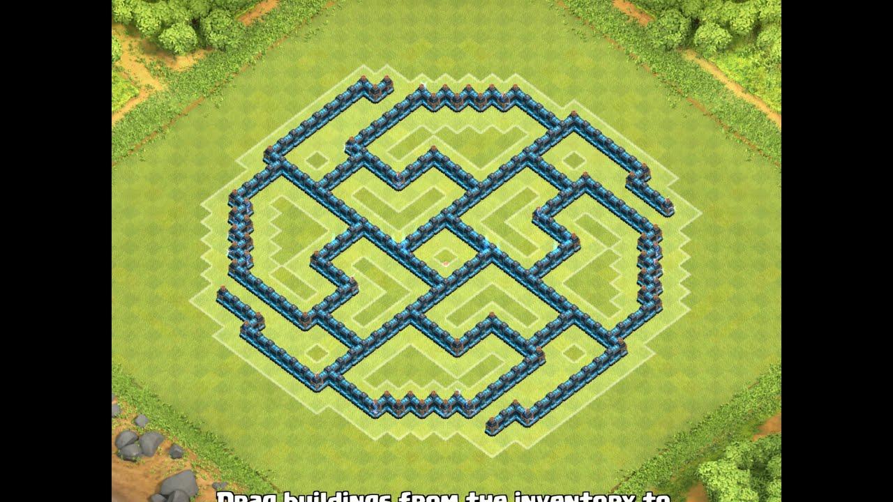 maps clash of clan hdv 8