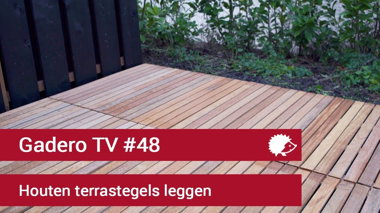 Tegels Leggen Tuin : Houten tuintegels leggen youtube