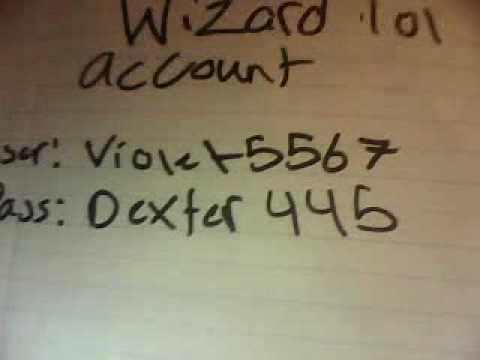 Wizard101 account giveaway