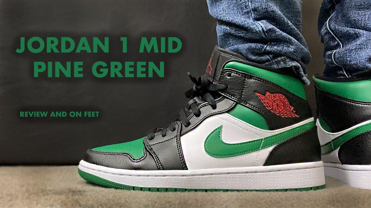 air jordan 1 retro mid verdes