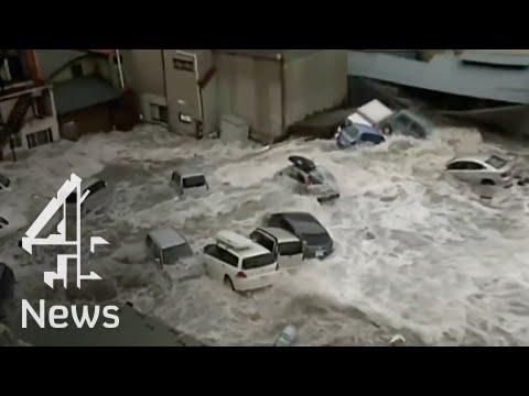 Tsunami video - Miyako City, Iwate
