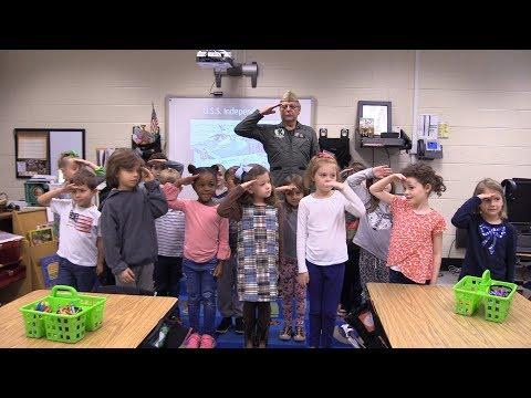 Honoring Veterans at Tritt Elementary School