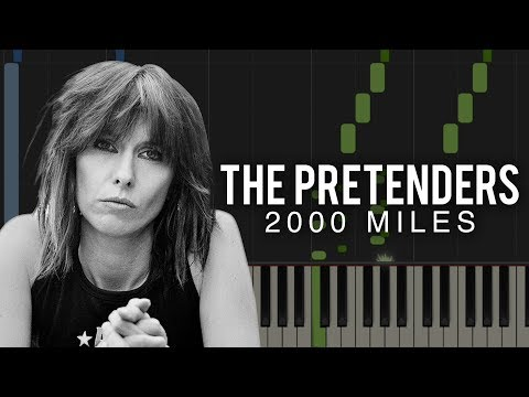 2000 Miles  The Pretenders  Christmas Song Piano Tutorial & Sheets