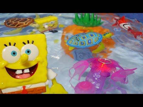 로봇 스폰지밥 어항세트 로봇피쉬 물놀이 목욕놀이 장난감 Robofish SpongeBob Zuru Toy   Fish Plays