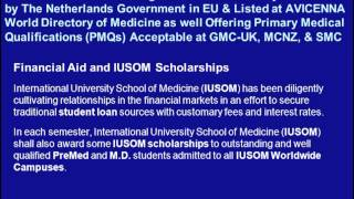 M.D. Degree Admissions for May 2013 Semester at IUSOM: Listed at AVICENNA Directory