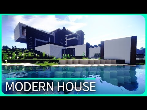 Minecraft - Realistic MODERN HOUSE Design - Cinematic & Map Download