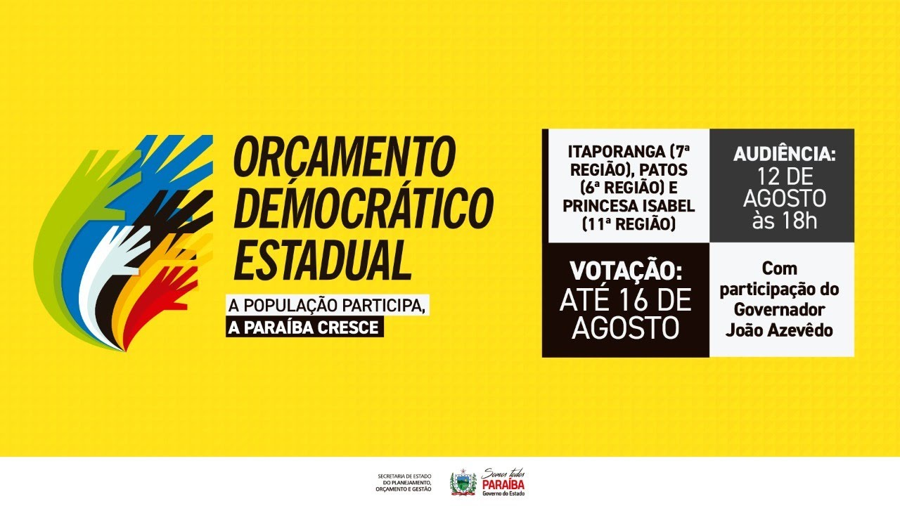 Plenária Orçamento Democrático - 6°  7° e 11° Região - 12/08/2020