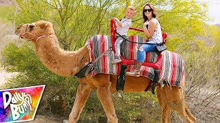24 HOURS IN A DESERT! - Kids First Camel Ride! 🐫 🌵