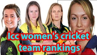 Top 10 icc women's cricket team world rankings|| Icc women's cricket team rankings