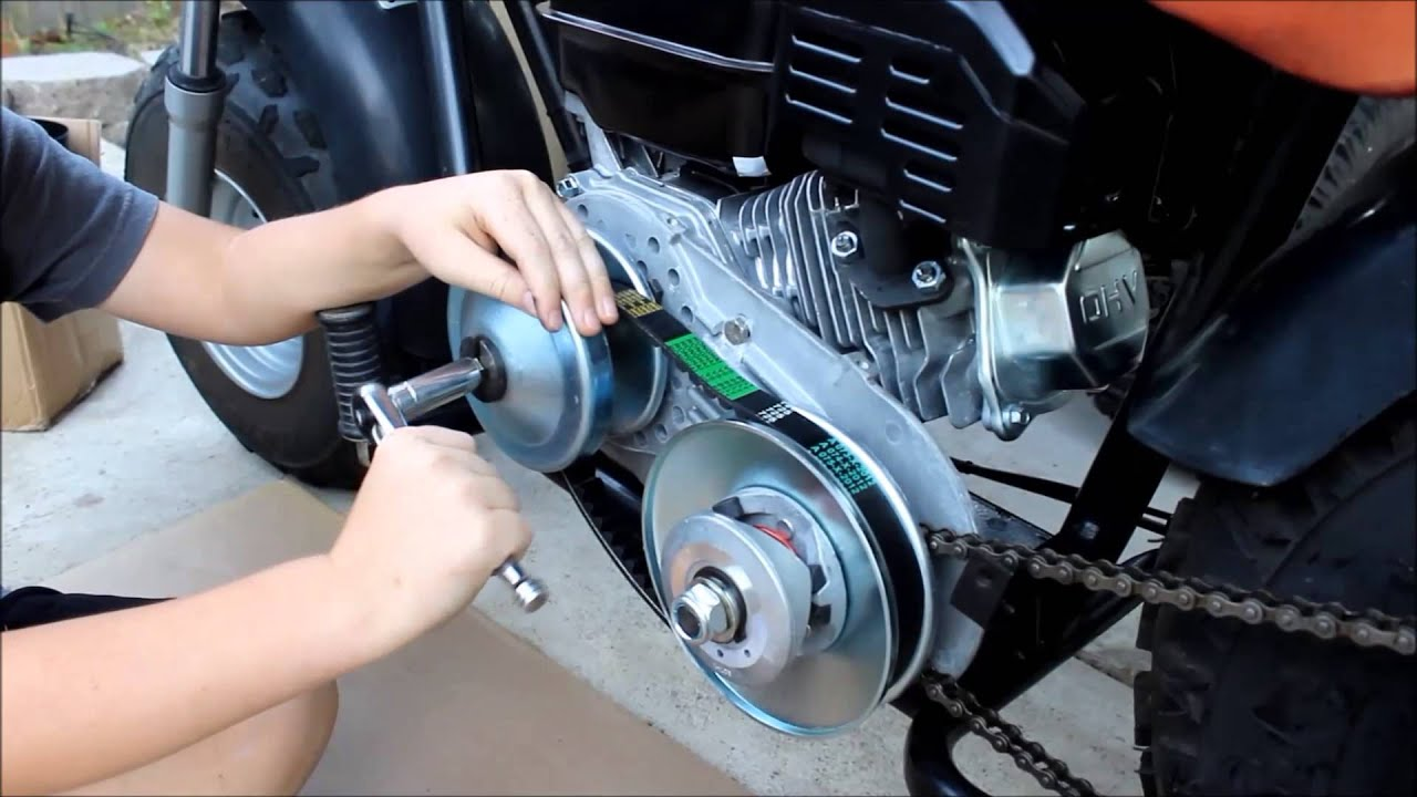 Mini Bike Clutch Installation : Mini bike motor swap and new torque converter test run