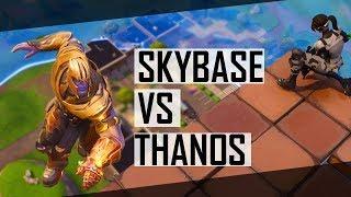 SKY BASE vs THANOS - 20 KILL GAME INFINITY GAUNTLET LTM (Fortnite Battle Royale)