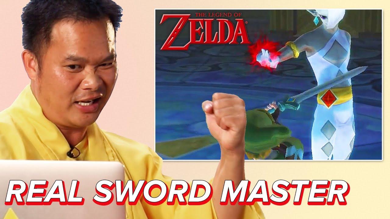 Shaolin Sword Master Reacts To Combat In The Legend Of Zelda