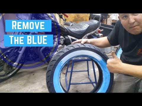 How To Remove The Blue Film On White Wall Tires