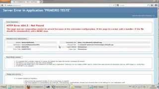 Instalando ASP e ASPX no IIS 7.5 Mp3