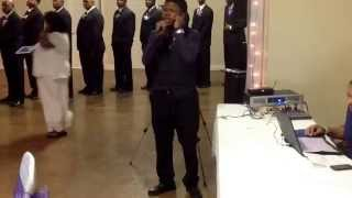 Timothy Pitts singing  Jamie Foxx Marry my Angel/Wedding Vows at. April n Chris Brown Wedding