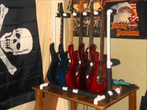 Homemade Pvc Pipe Guitar Stand Youtube
