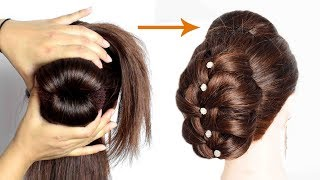 new and easy bun hairstyle | bun style | juda style | hair style girl | s for style