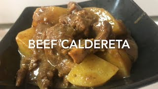 Beef Caldereta / Kalderetang Baka || Chel Javier #19