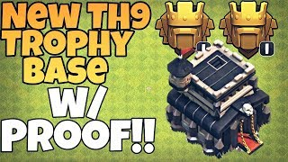 New Town Hall 9 (TH9) Trophy Base 2018   TH9 Trophy Pushing Base   Clash of Clans