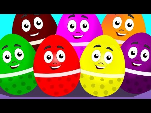 Learn Colors With Surprise Eggs Color Song For Kids Children Nursery Rhymes kids tv