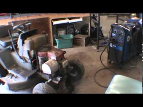 white lawn mower repair