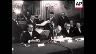 MR KONRAD ADENAUER VISITS BRUSSELS - NO SOUND