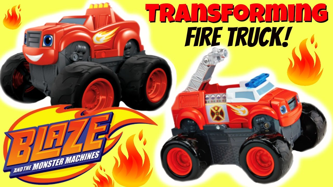 Blaze transforming fire truck blaze and the monster machines nick jr