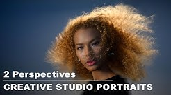 Creative studio portrait session