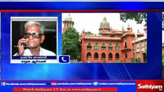 Social activist Traffic Ramasamy talks about Chennai High Court Justice Vaidyanathan's Opinion